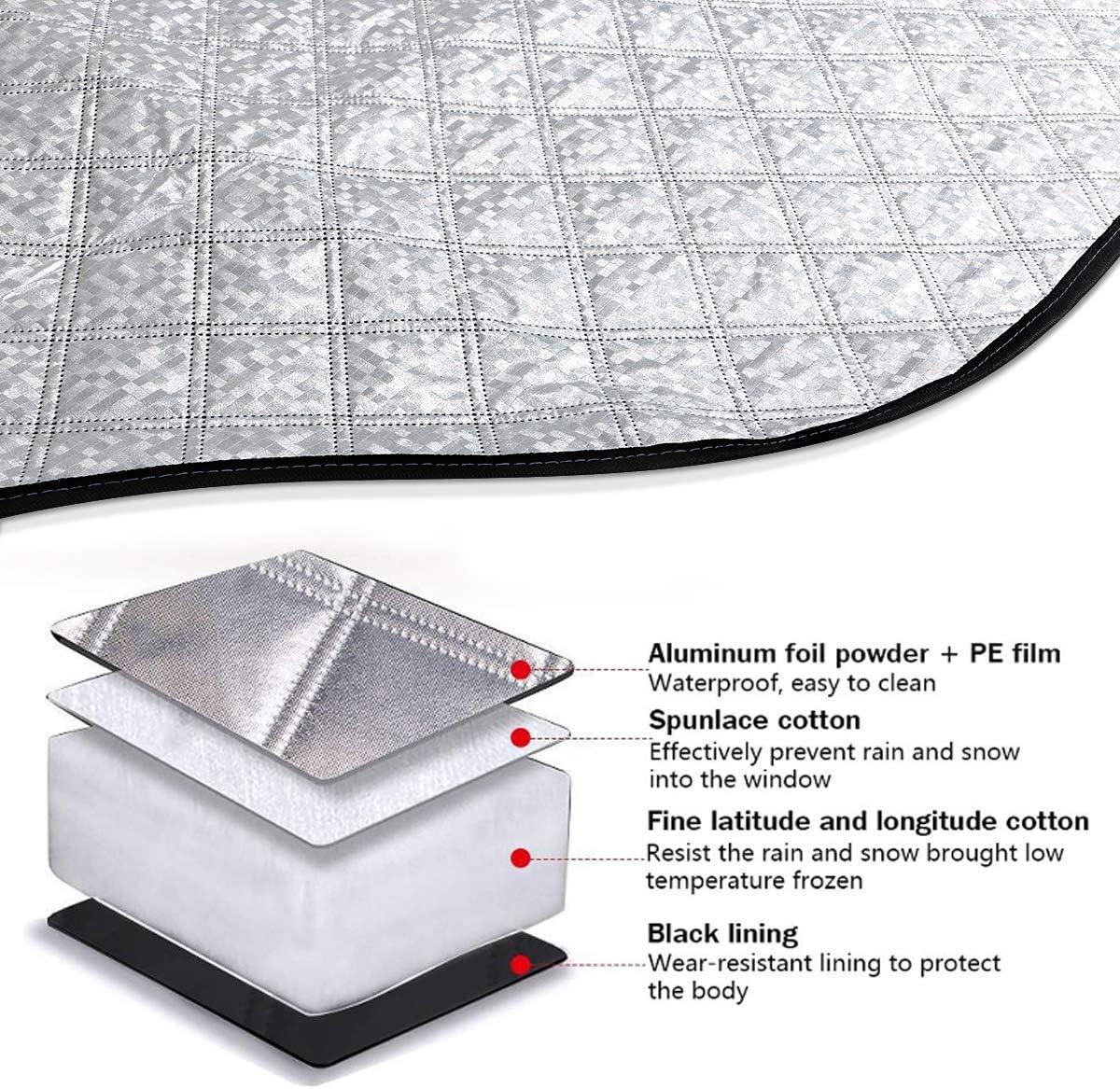 Le Gel la Neige Pare-Soleil Pliable Fengzio Protection de Pare-Brise de Voiture Double Fixation pour Pare-Brise de Voiture Id/éal pour la Voiture Contre Les Rayons UV