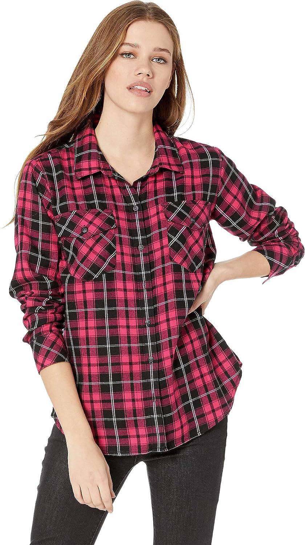 Boogie Down Plaid Sanctuary Women's Boyfriend for Life Shirt
