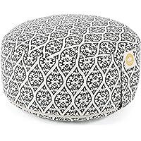 Lotuscrafts Yogakussen Meditatiekussens Ronde Lotus - zithoogte 15cm - wasbare katoenen hoes - yoga zitkussen met…
