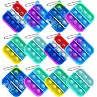 Howstart 12 Pcs Mini Push pop Bubble Fidget Toy, Simple Fidget Toy, Keychain Bubble Pop Desk Toy, Decompression Toys…