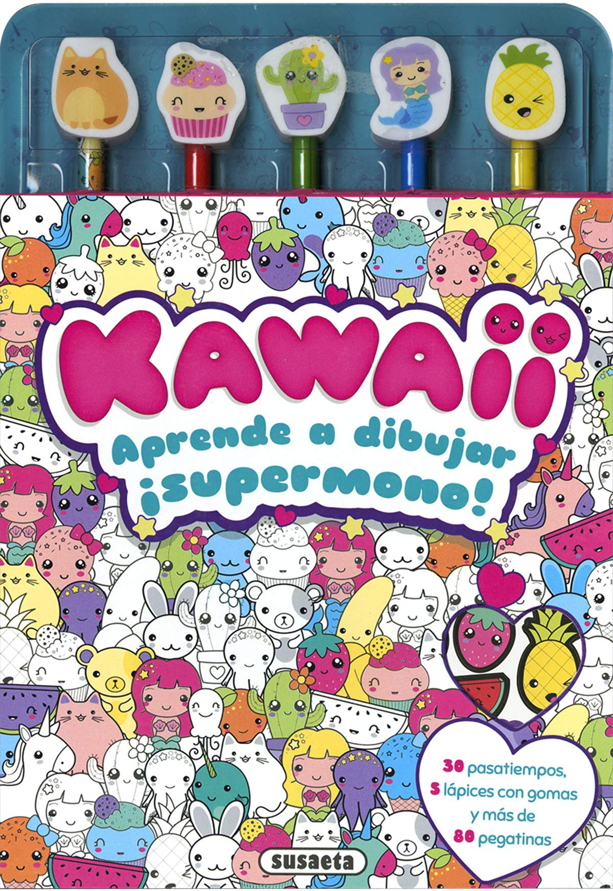 Kawaii Aprende A Dibujar Colorea Y Aprende A Dibujar Amazon Es