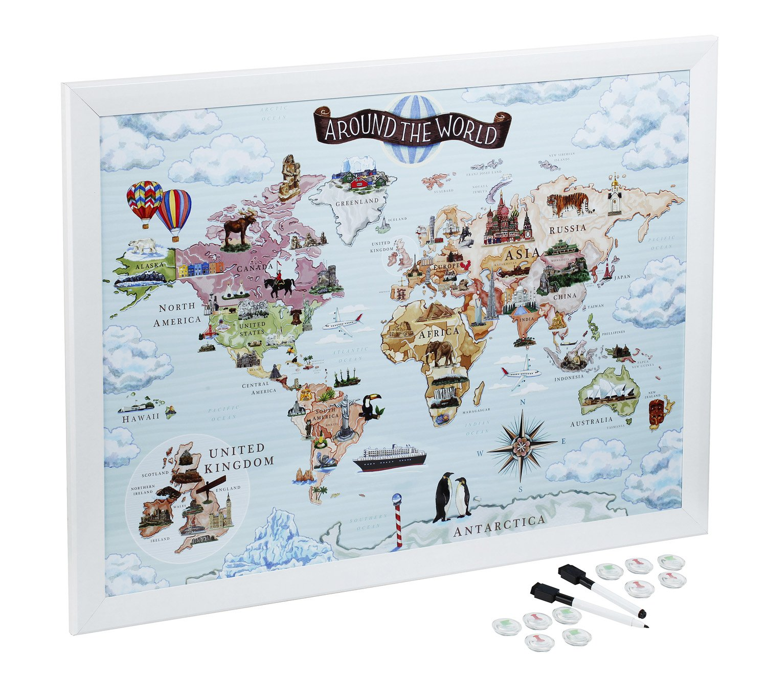 Magnetic maps to draw pin and plan your travels amazon magnetic maps to draw pin and plan your travels amazon electronics gumiabroncs Choice Image