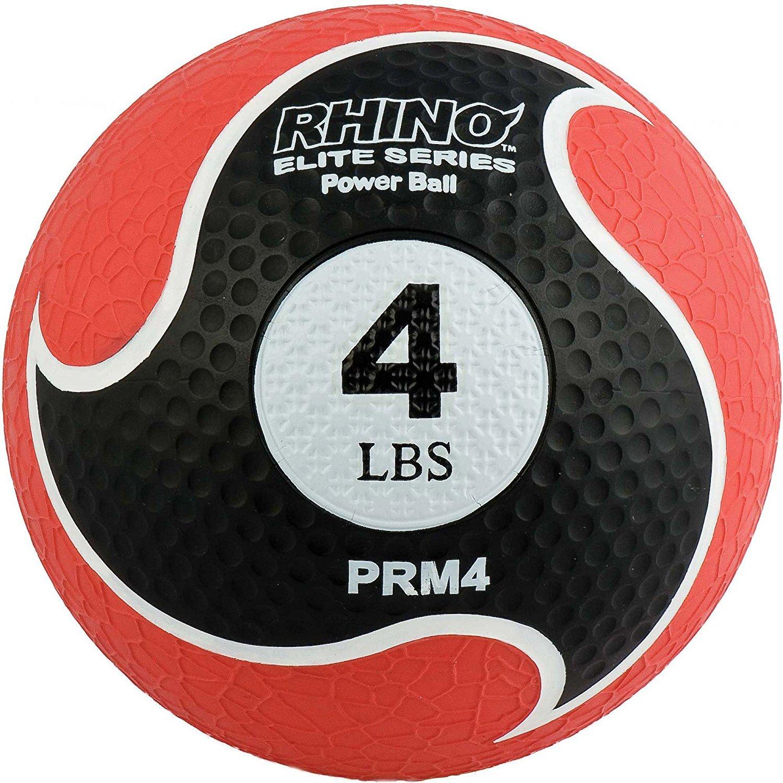 Champion Sports Rhino Elite Medicine Ball (4 pounds), Red