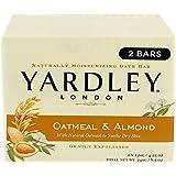 Yardley London Oatmeal and Almond Naturally Moisturizing Bath Bar, 4.25 oz., 2 Count
