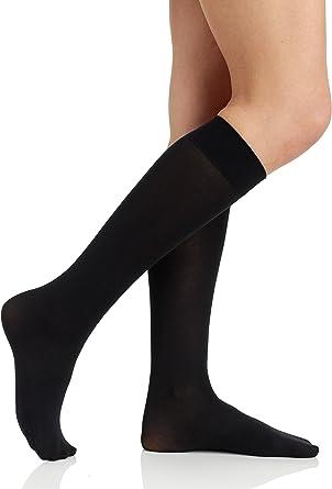 Berkshire Women's Trend Opaque Trouser Socks - Sandalfoot 6423, Black,  One-Size at Amazon Women's Clothing store: Dress Socks