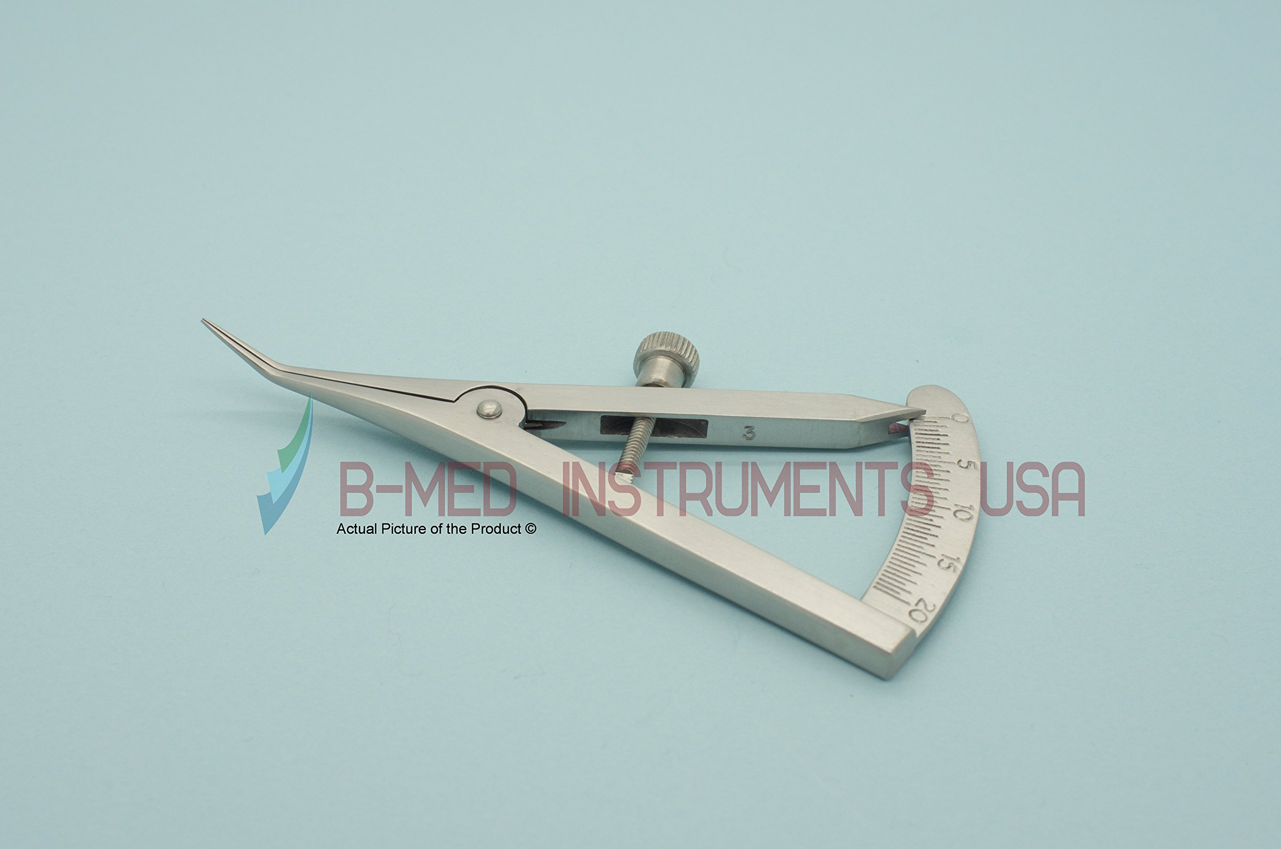 Castroviejo Caliper 0-20MM Angled Dental Instruments