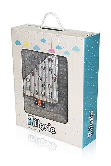 Milusie bebé niños - Manta Cochecito Suave en Caja de cartón tamaño: 75 x 100 cm, algodón/poliéster, Blau Autos, 75 x 100 cm: Amazon.es: Hogar