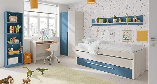 Miroytengo Pack habitacion Juvenil Azul y Blanco Alpes Completo ...