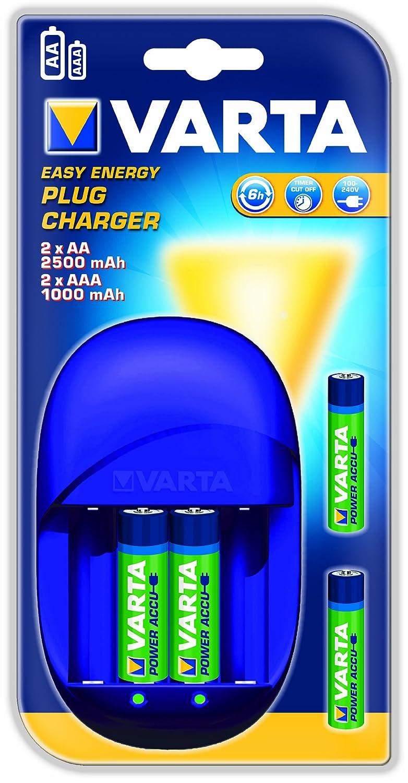 Varta Easy Energy Plug - Cargador de pilas con 2 pilas ...