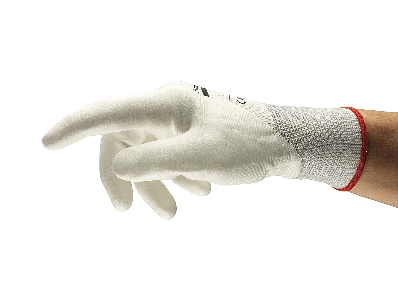 Protezione Meccanica Taglia 6 Bianco Sacchetto di 12 Paia Ansell Hyflex 11-410 Guanto Multiuso