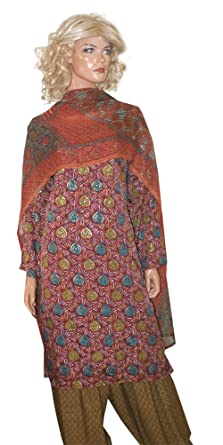 604971f183 Amazon.com: Apparelsonline Ladies Plus Size 52 Dress Salwar Kameez Party  Wedding Wear (50): Clothing