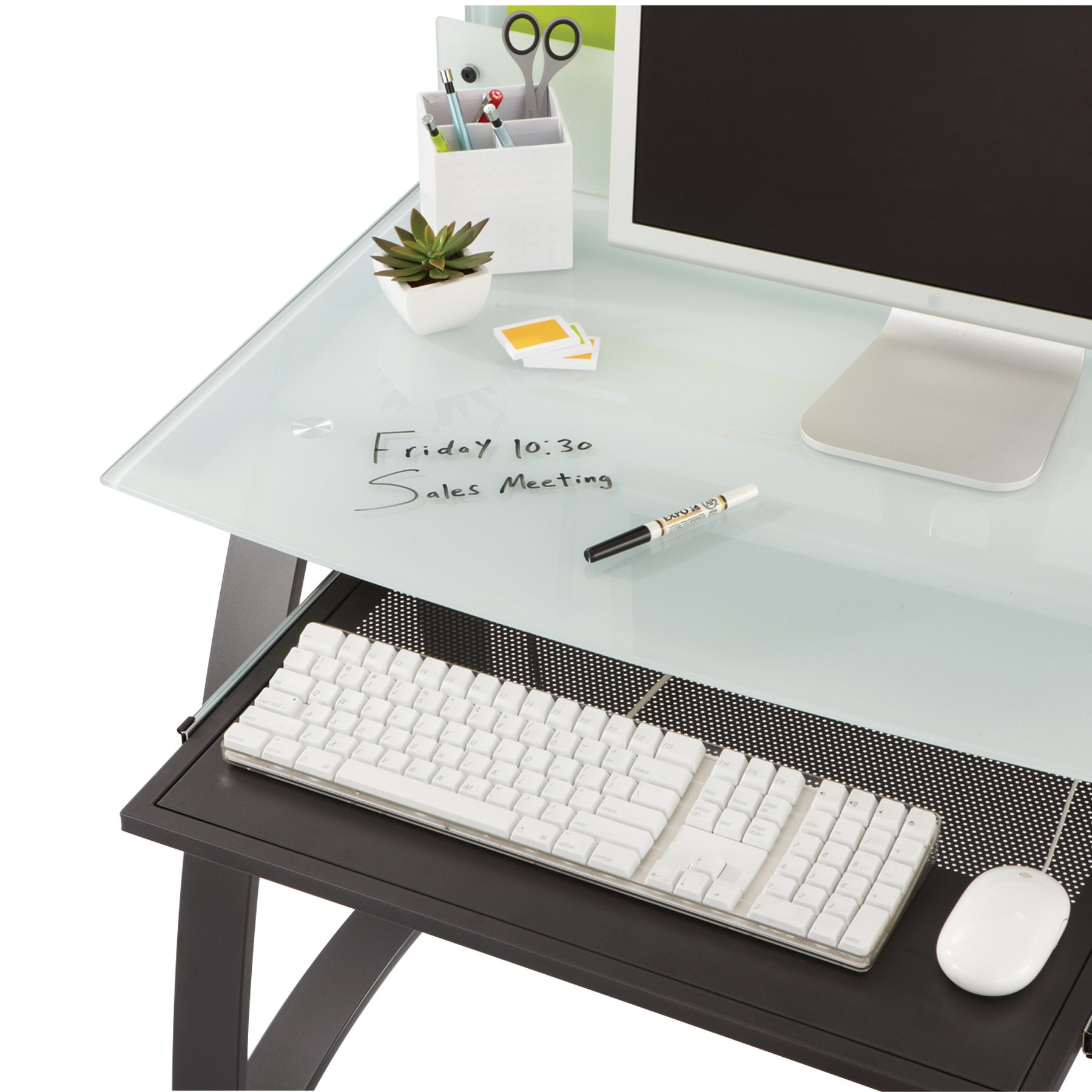 Safco Products 1940BL Xpressions Keyboard Tray for use with Workstations 1936TG & 1938TG (sold separately), Black