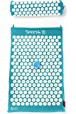 Spoonk - Back pain and sleep aid relief in coton regular size acupressure mat with bag Eco USA foam, Pagoda Blue