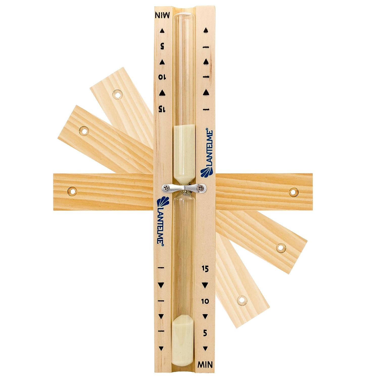 Lantelme 7722 Sablier en bois de h/être rotatif 15 minutes