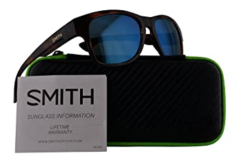 f5688d97c11 Image Unavailable. Image not available for. Color  Smith Wayward Sunglasses  Havana w Polarized Blue Mirror Lens ...