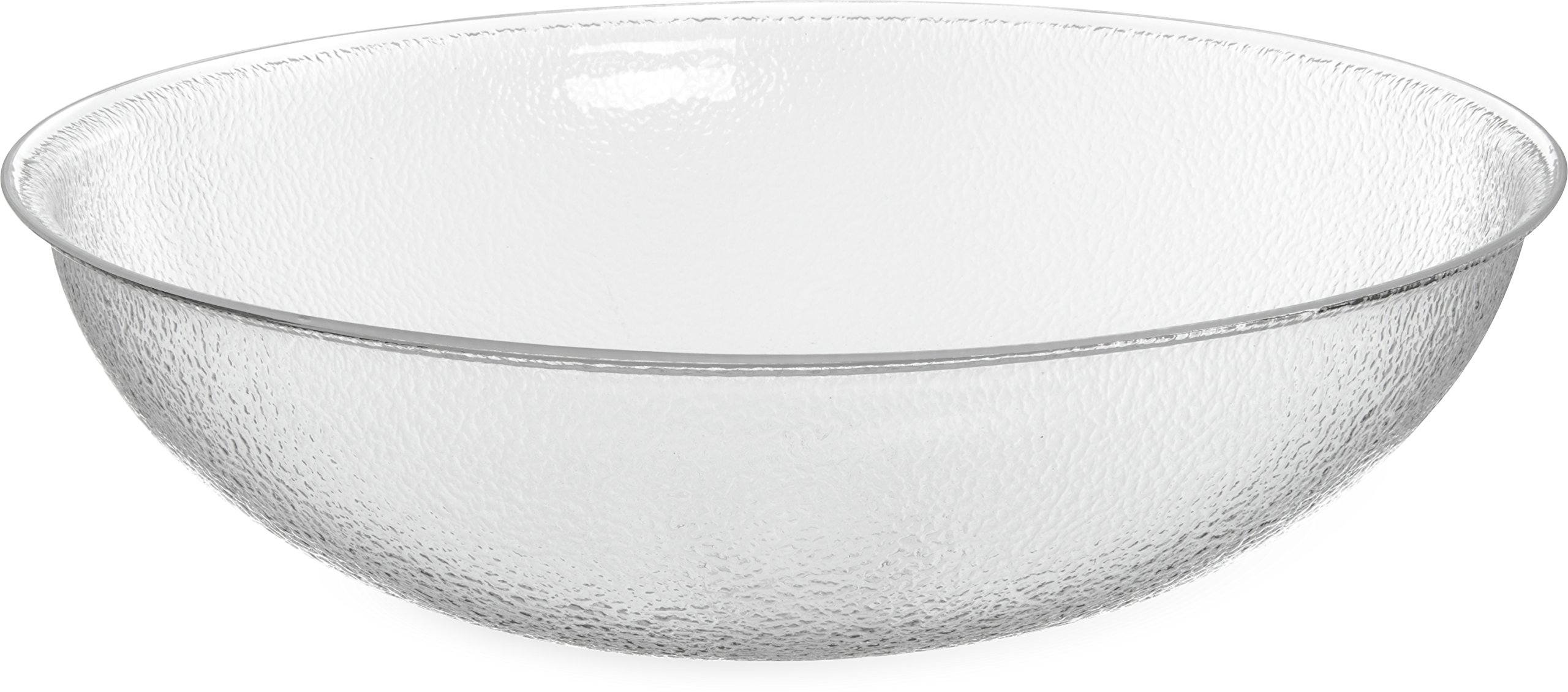 Carlisle SP2207 Acrylic Pebbled Punch Bowl, 24-qt. Capacity, 22'' Diameter x 11.12'' Height, Clear