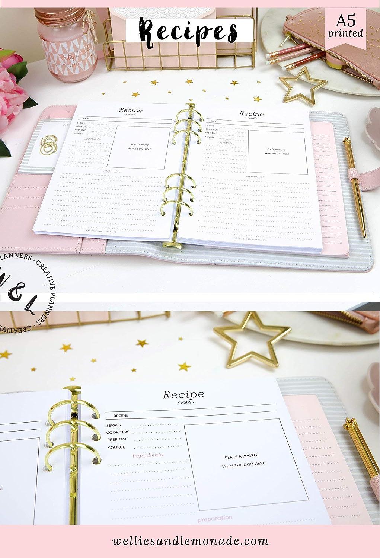60 planificadores - 30 páginas, inserciones de recetas ...
