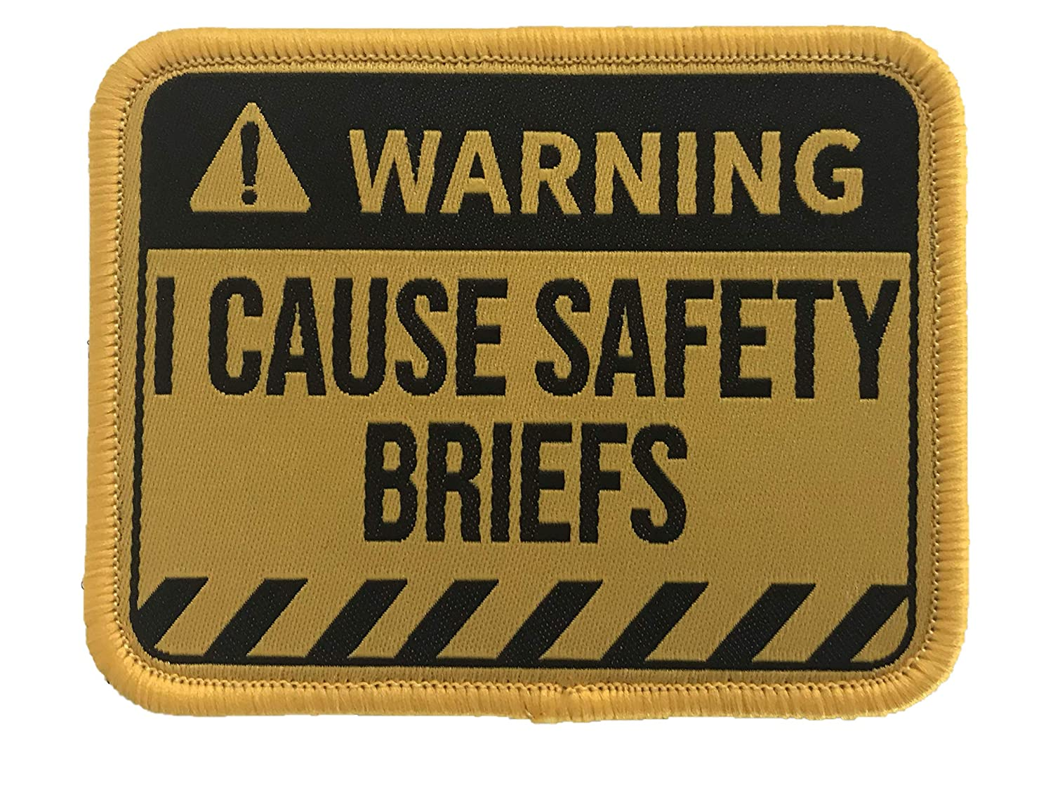 Warning Embroidered Morale Patch I Cause Safety Briefs