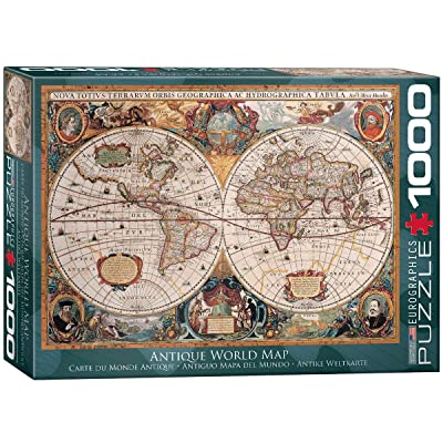 EuroGraphics Antique World Map Puzzle (1000-Piece): Toys & Games