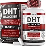 DHT Blocker Hair Growth Supplement - High Potency Biotin & Saw Palmetto for Hair Regrowth - Natural Hair Loss Treatments for