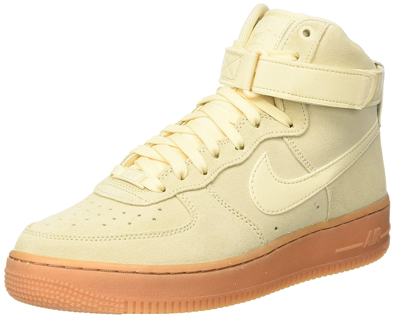 NIKE Men's Air Force 1 High '07 LV8 Suede Basketball Shoe B078233SX3 14 D(M) US|Muslin/Muslin/Gum Medium Brown