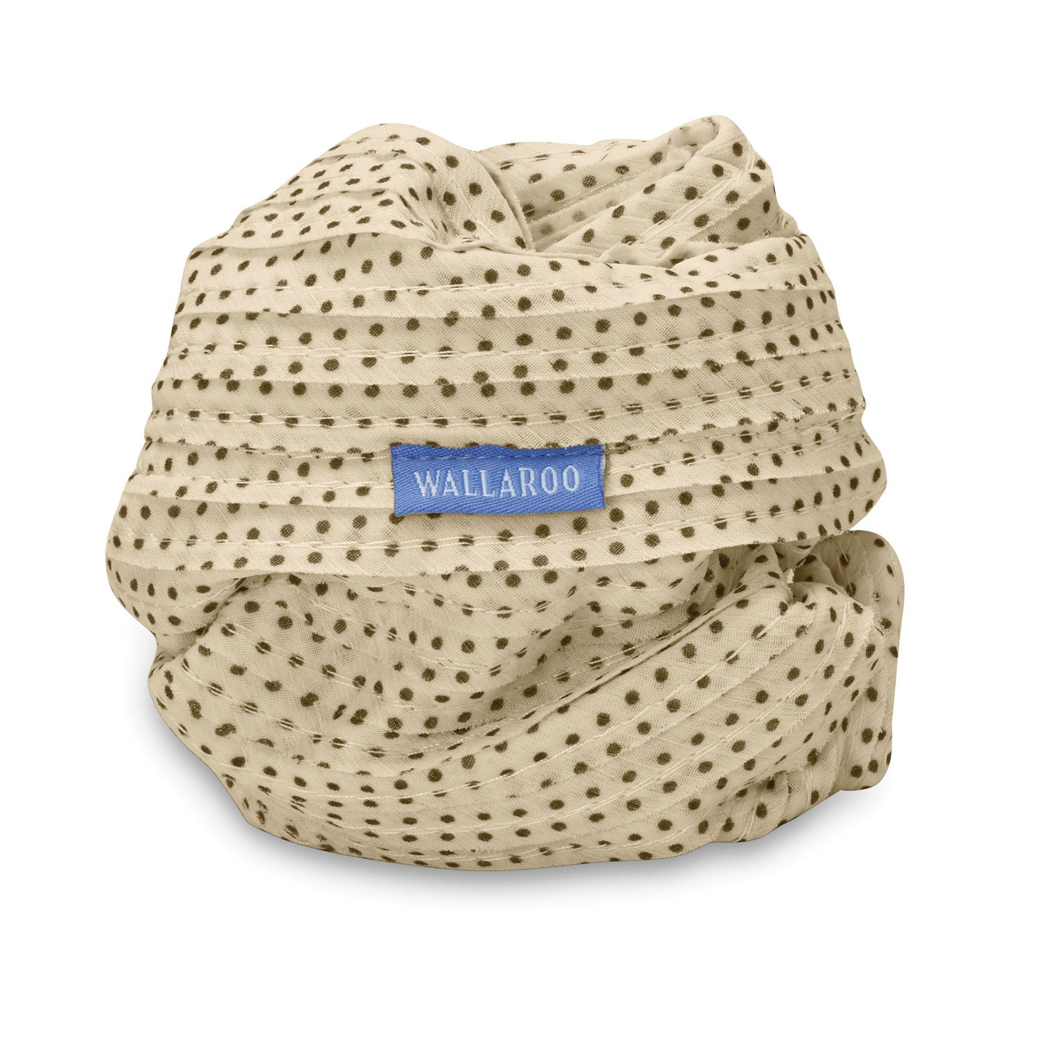 Wallaroo Hat Company Women's Scrunchie Sun Hat – Natural/Brown Dots – UPF 50+, Ultra-Lightweight, Packable for Every Day, Designed in Australia.