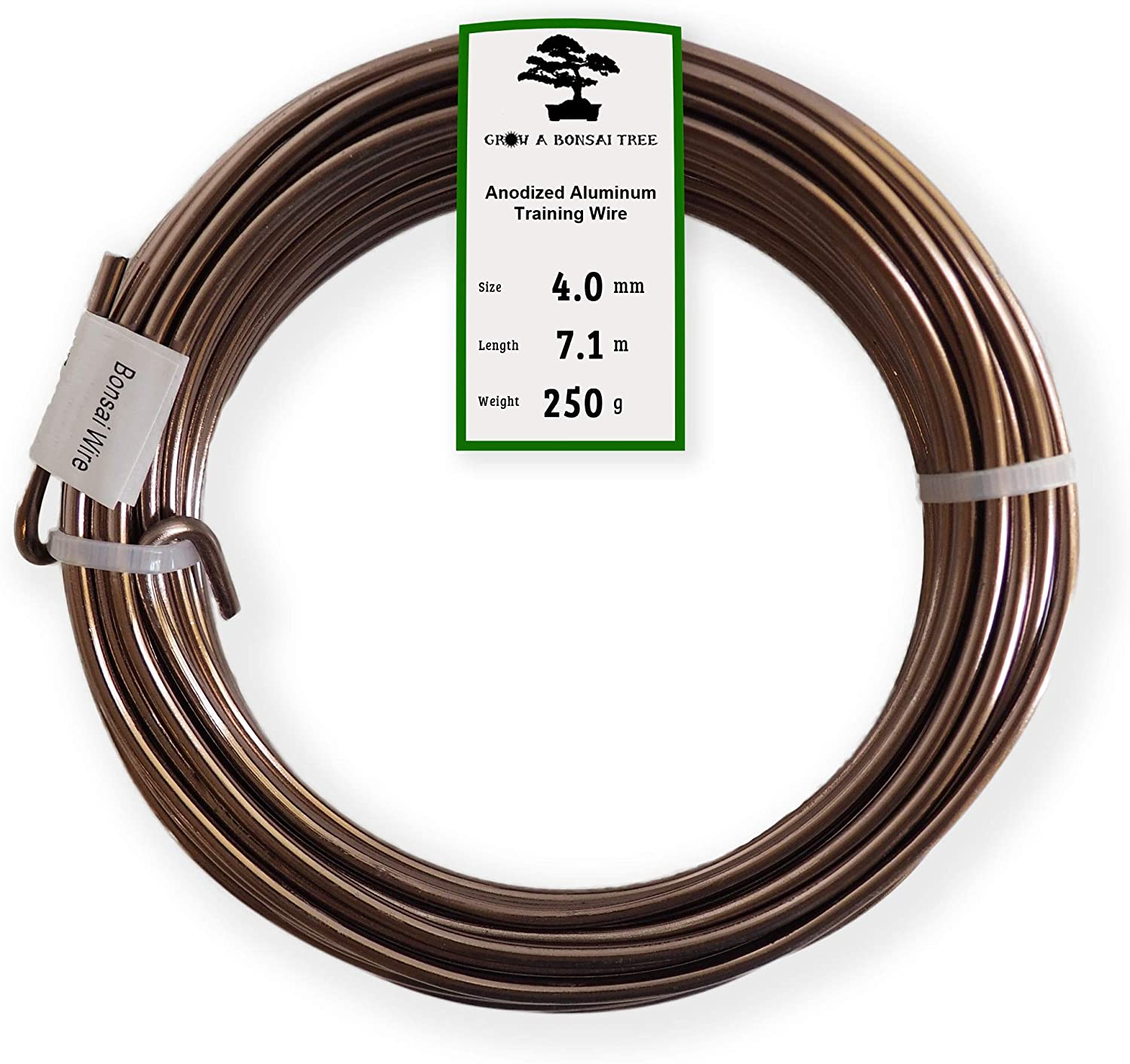 1.0 mm, 1.5 mm, 2.0 mm bobotron 9 rolls of bonsai wires made of anodised aluminium bonsai training wire with 3 sizes total length 147 feet black .