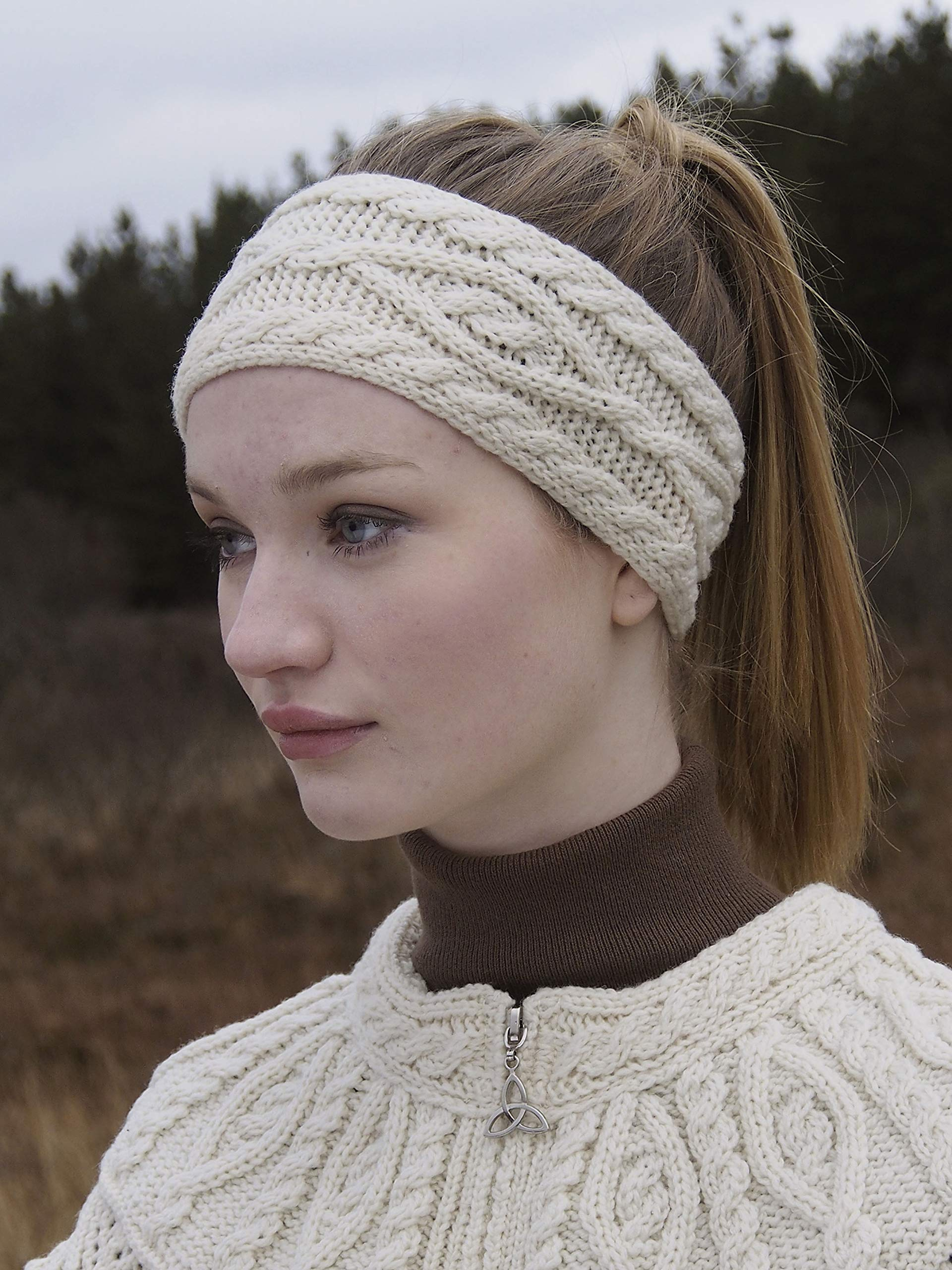 Aran Crafts Headband (100% Merino Wool) One Size Natural (X4341-NAT) by Aran Crafts Ireland (Image #4)