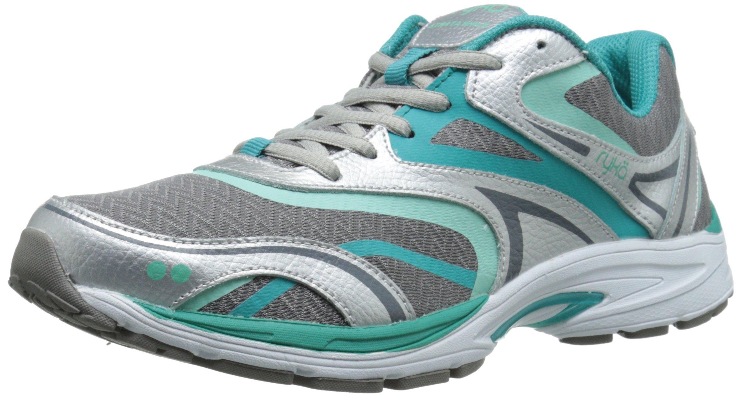 RYKA Women's Strata Walk Walking Shoe, Frost Grey/Beach Glass/Teal Blast/Chrome Silver, 6.5 W US by Ryka