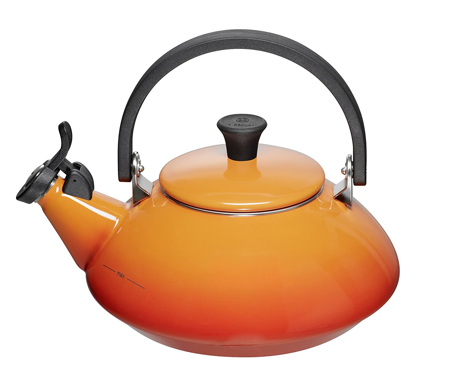 amazoncom enamel on steel  qt zen tea kettle color flame  - amazoncom enamel on steel  qt zen tea kettle color flame kitchen dining