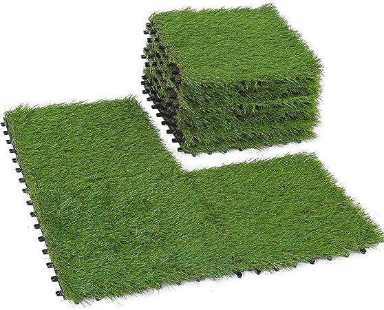 vidaXL Kunstrasen 1,5x10m 7-9mm Gr/ün Rasenteppich Kunstrasenteppich Fertigrasen