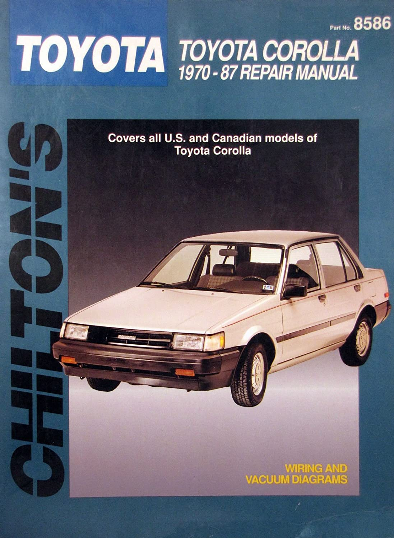 1970 87 Chilton Repair Manual Toyota Corolla 8586 1987 Wiring Diagram Everything Else