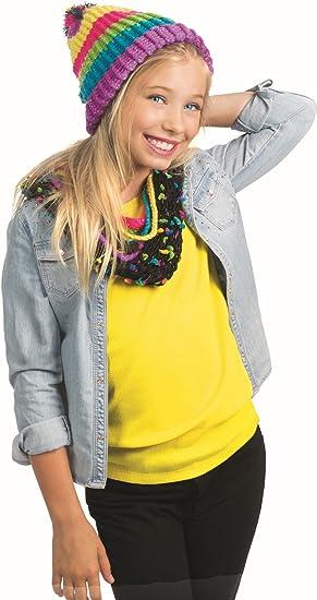 DIY Scarf Craft Kit for Girls Creative Birthday Beading Kid Set Beginner Art and Craft kit for Kids//Toddlers Birthday Present//Gift Idea SMU-329 Rainbow Yarn Yellow Style Me Up