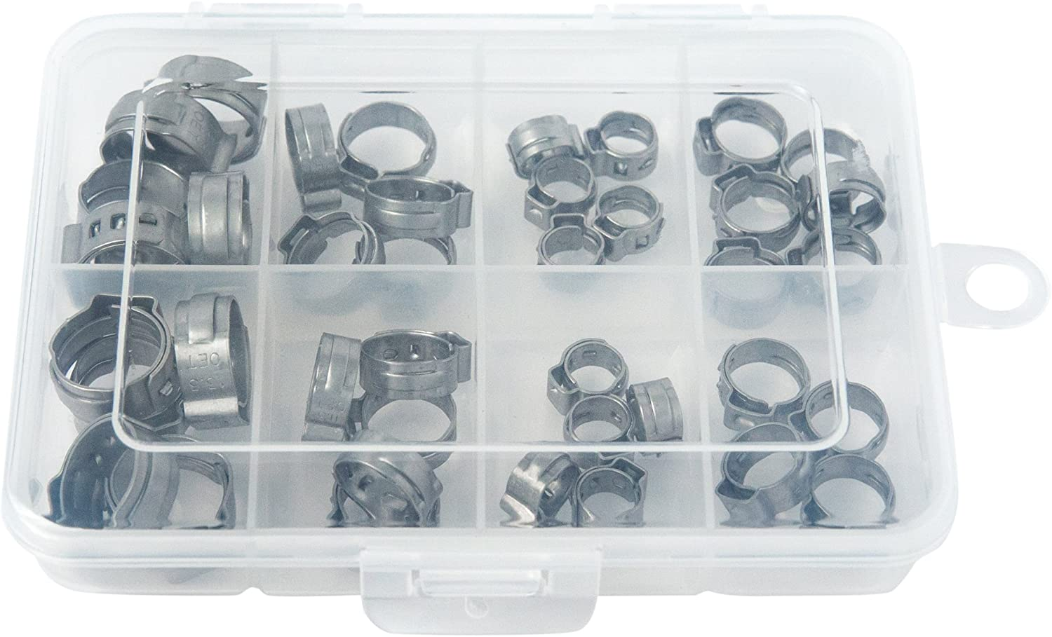 OCSParts OET070133-40PCK Oetiker StepLess Clamp Kit 40 Clamps Covering an Inner Diameter Clamp Range of 7 mm to 13.3 mm