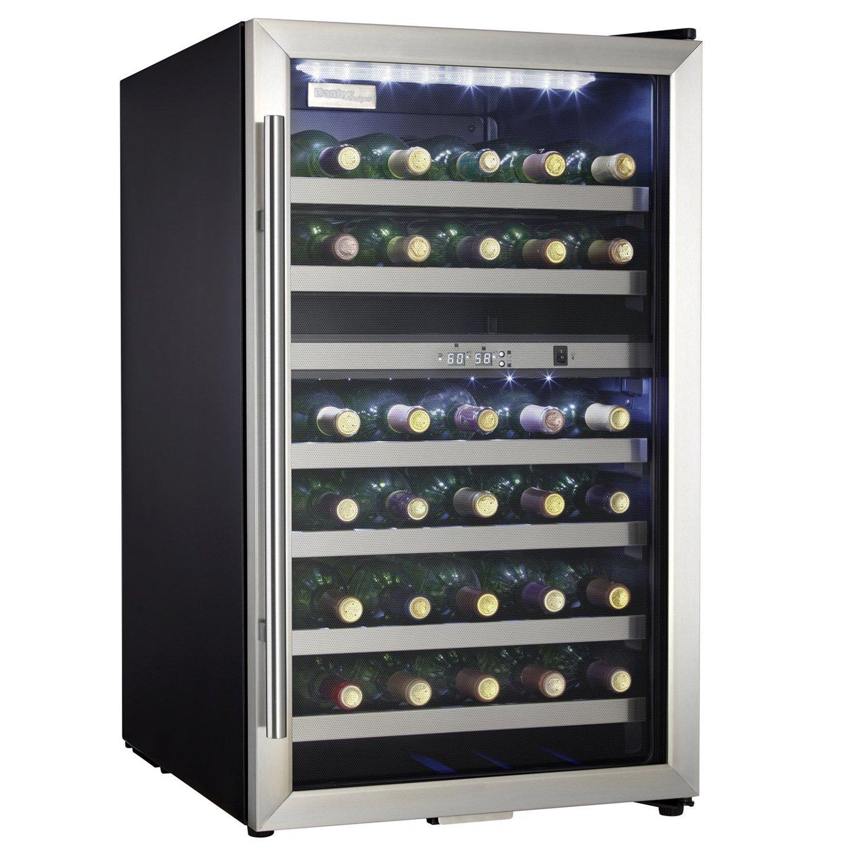 Danby 36 Bottle Electric Wine Cooler Cellar Storage Mini Bar Refrigerator, Black