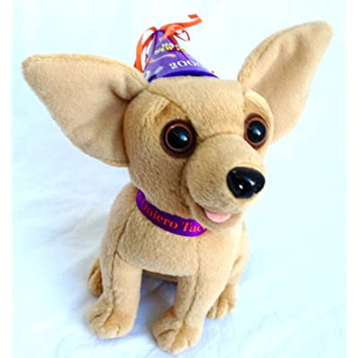 "Taco Bell ""Happy New Year Amigos"" Plush Talking Chihuahua Dog: Toys & Games"