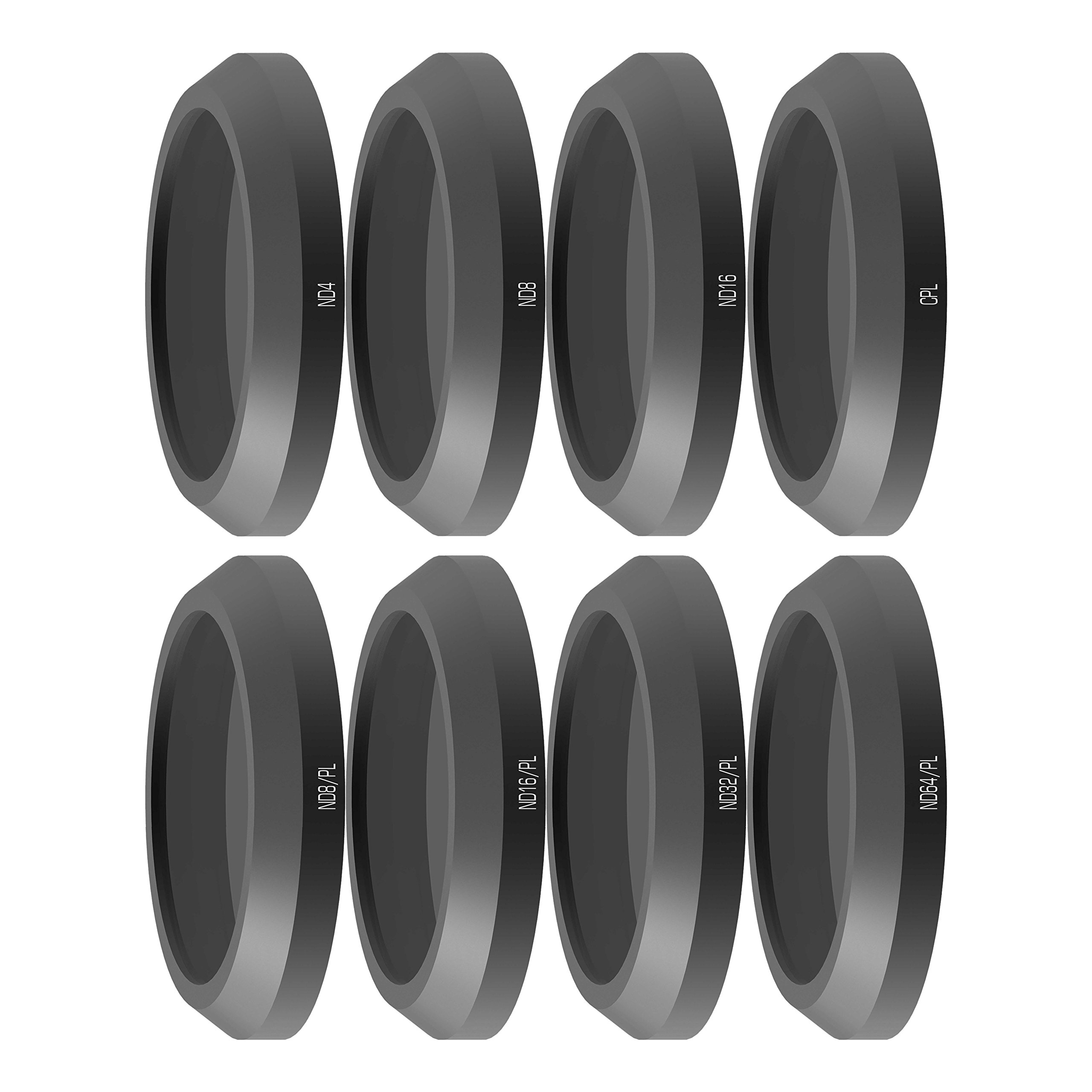 Freewell All Day-Camera Lens Filters Kit 8Pack ND4, ND8, ND16, CPL, ND8/PL, ND16/PL, ND32/PL, ND64/PL Made for Used with Parrot Anafi Drone