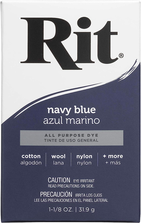 Rit, Navy Blue Purpose Powder Dye, 1-1/8 oz