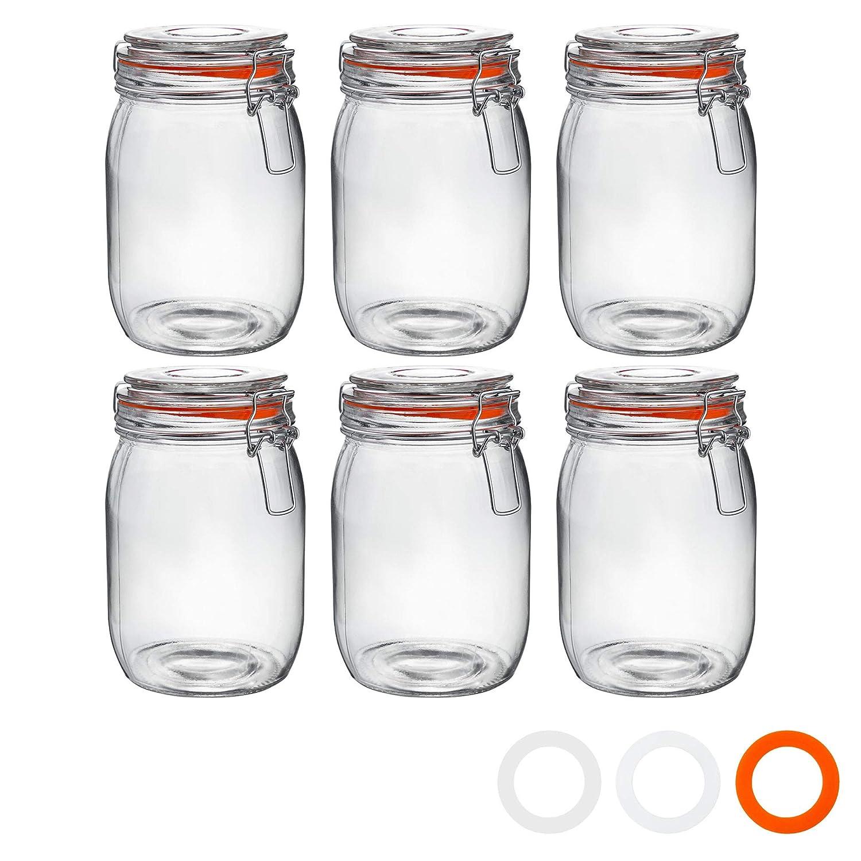 Argon Tableware Botes de Cocina para almacenar Alimentos - Cristal ...