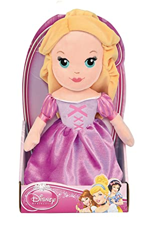 Disney Rapunzel GG01213 Peluche, 25 Centímetros, Calidad Super Suave, Princesas Disney