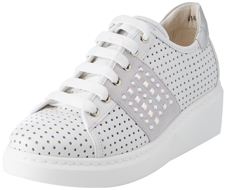 Melluso Donna-Walk Techno, Zapatillas para Mujer 37 EU|Blanco (Bianco Bianco)