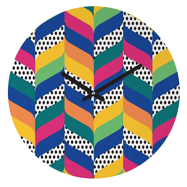 Deny Designs Juliana Curi 12 12 16120-roucls Round Round Clock Chevron 6