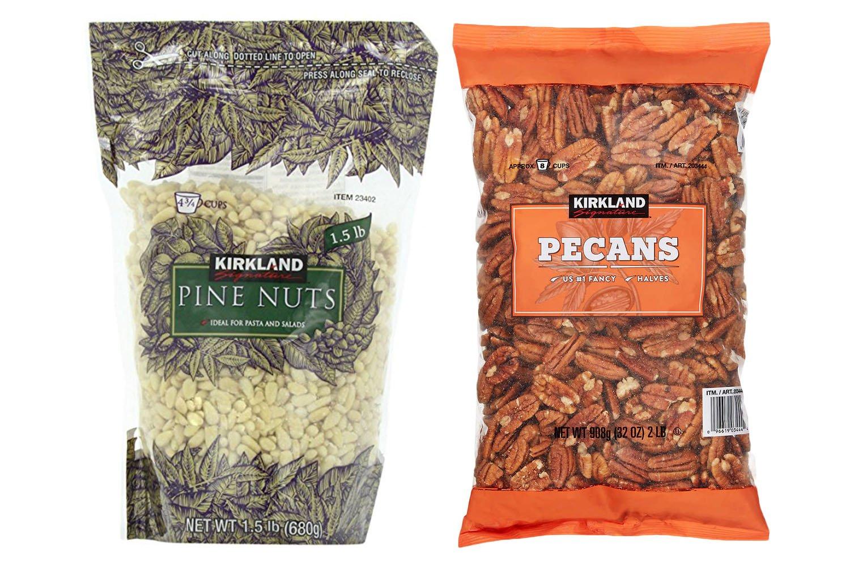 Kirkland Signature Pine Nuts and Pecan Bundle - Includes Kirkland Signature Pine Nuts (1.5 LB) and Pecan Halves (2.0 LB)