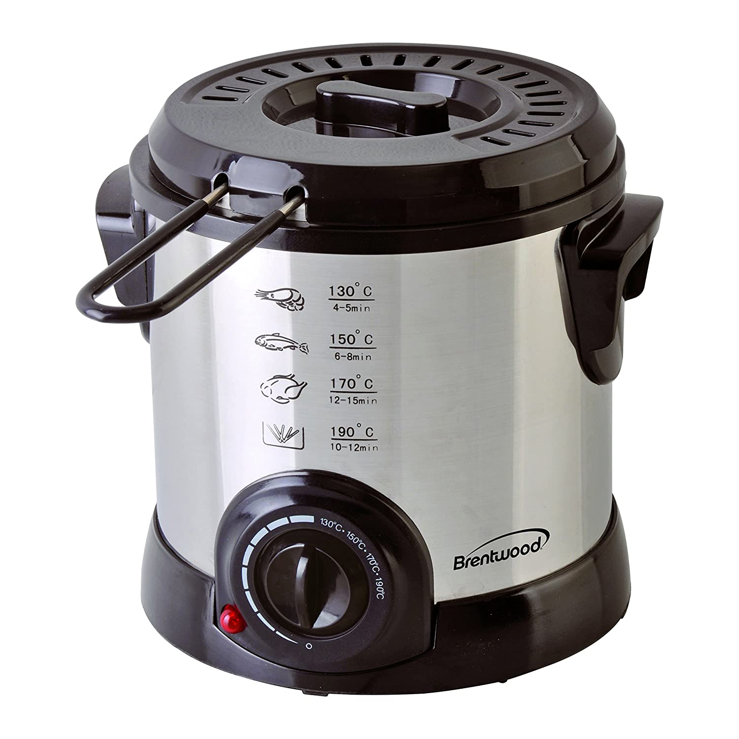 Brentwood DF-701 Electric, 1-Liter, Stainless Steel Deep Fryer, 1 Liter.