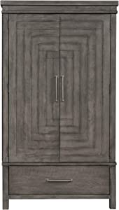 Liberty Furniture Industries Modern Farmhouse Armoire, Dusty Charcoal