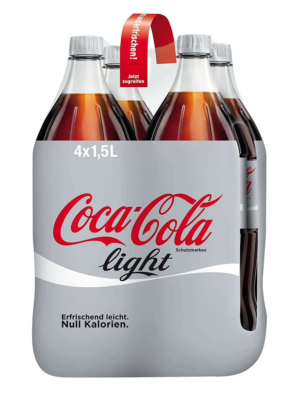 Coca-Cola Light/Erfrischendes Softgetränk in praktischen Flaschen ...