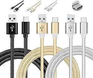 2x 1m USB-C 3.1 tipo C Cable carga Cable datos para BQ Aquaris x Gigaset mu//Pure