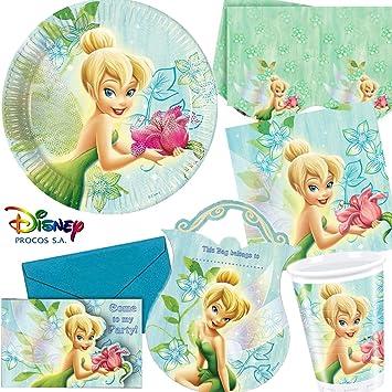 dekospass tinkerbell flowers kit de piezas para cumpleaos infantiles con diseo de flores de