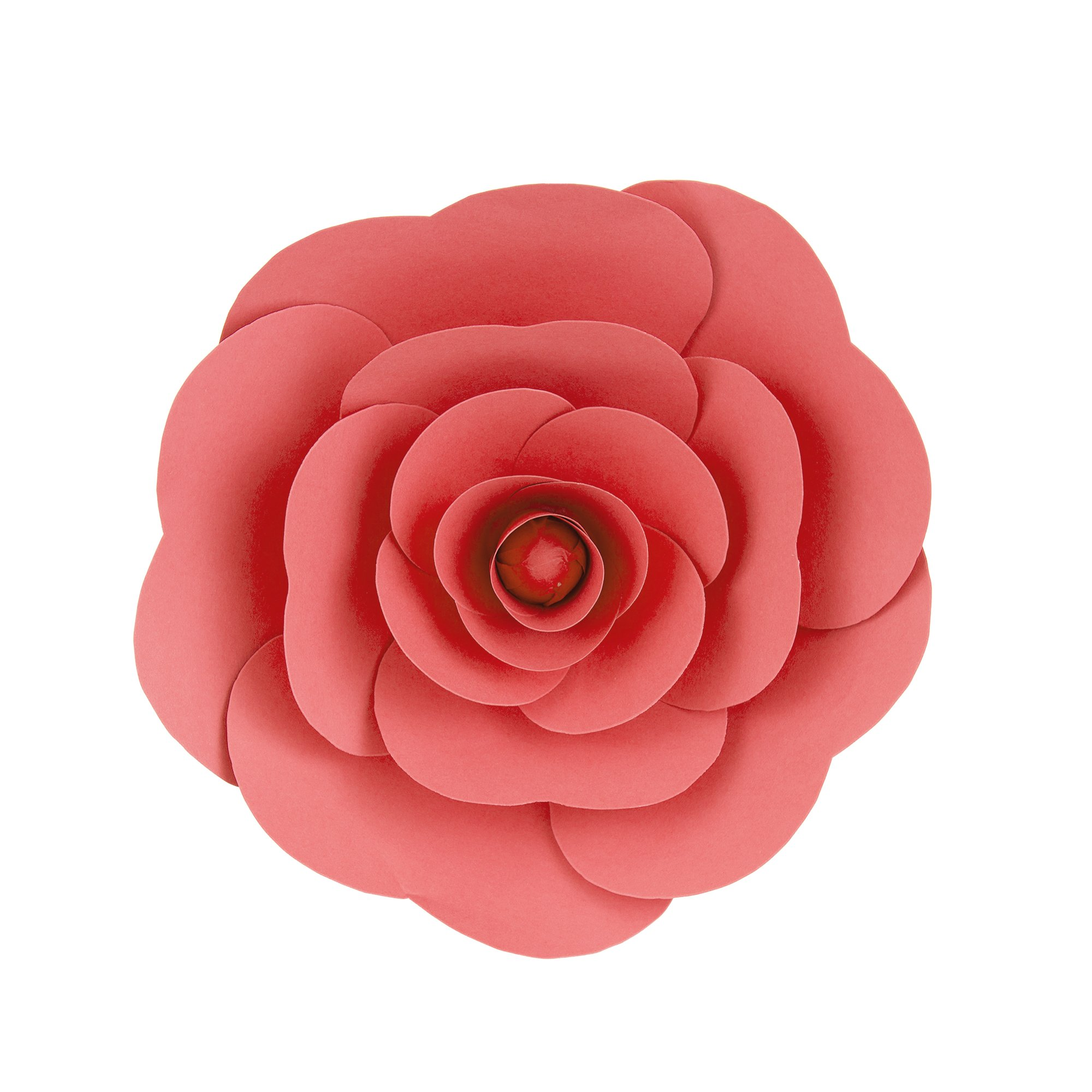 Mega Crafts 12'' Handmade Paper Flower in Coral | for Home Décor, Wedding Bouquets & Receptions, Event Flower Planning, Table Centerpieces, Backdrop Wall Decoration, Garlands & Parties