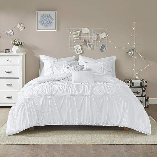 Intelligent Design Benny Duvet Set White Full//Queen ID12-1346